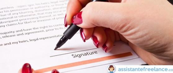 Quel type de contrat pour une assistante freelance ?