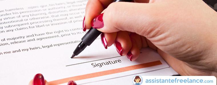 Quel contrat pour une assistante freelance ?