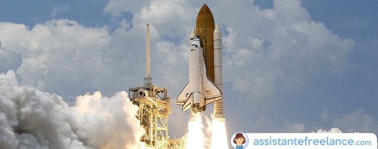 Créer un blog d'entreprise, c'est un peu comme envoyer la navette spatiale autour de la Terre !